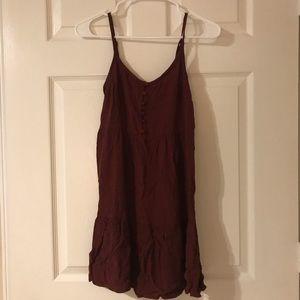 Burgundy tank dress